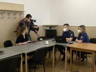natáčení reportáže